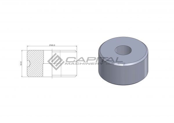 9023 Round Die Offset For Kingsland Iron Worker 2