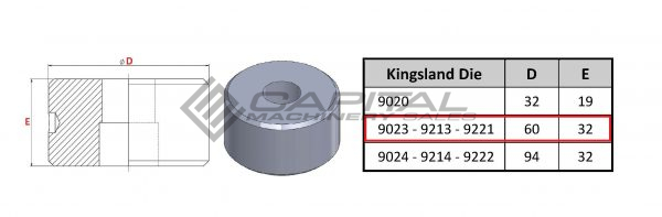 9221 elongated die for kingsland iron worker 2