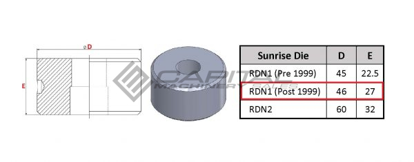 sunrise round die post 1999 models 3