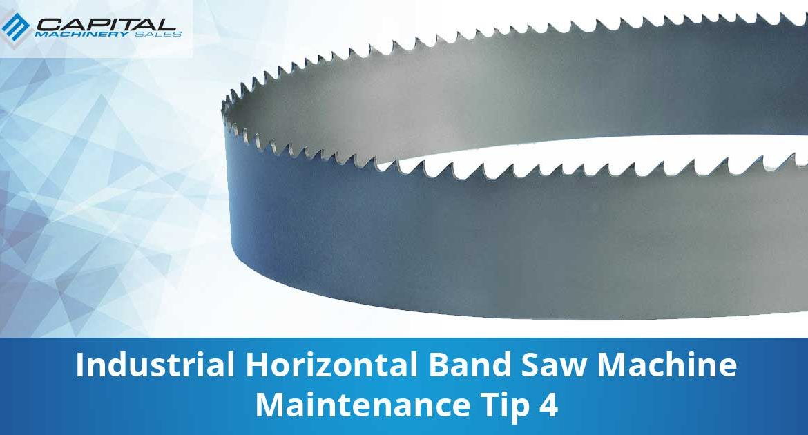 Industrial Horizontal Band Saw Machine Maintenance Tip 4 Capital Machinery Sales Blog Thumbnail