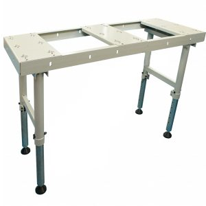 btt 150 sheet metal and plate ball transfer table with adjustable stands