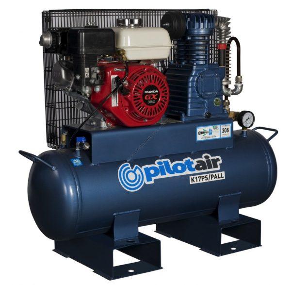 K17pspall Reciprocating Air Compressor Petrol Driven