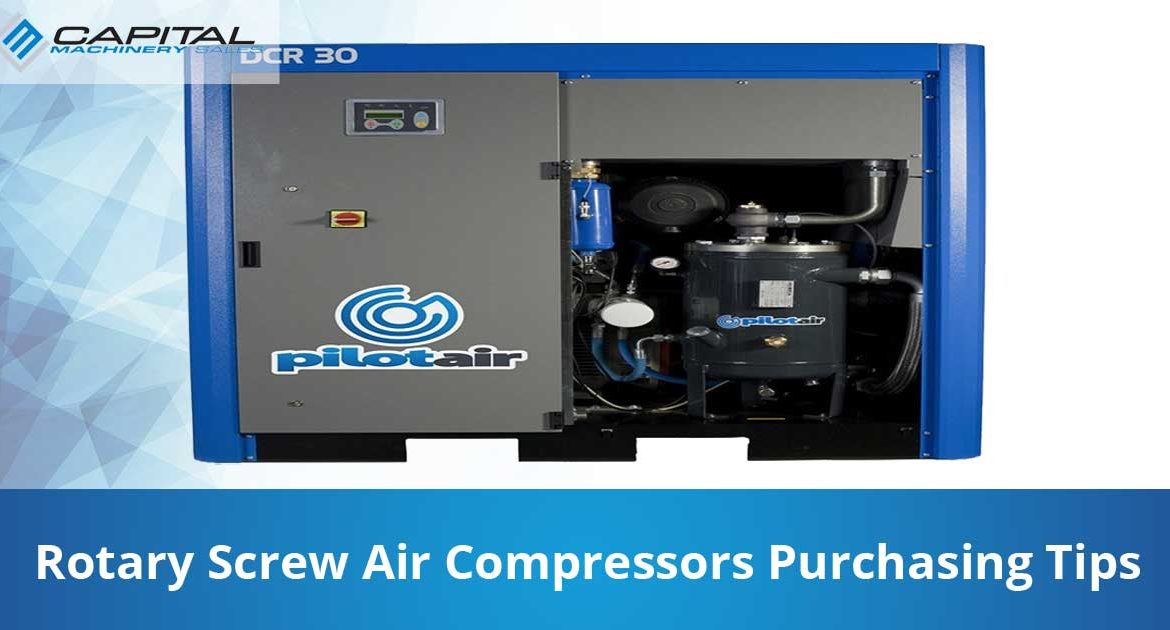 Rotary Screw Air Compressors Purchasing Tips Capital Machinery Sales Blog Thumbnail