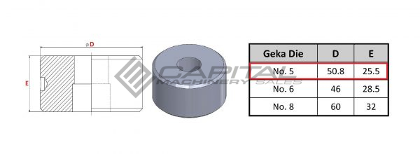 No. 5 Round Die For Geka Iron Worker 3