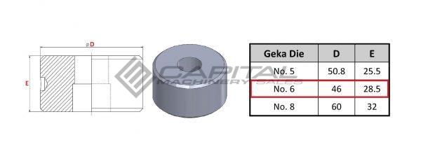No. 6 Round Die For Geka Iron Worker 2