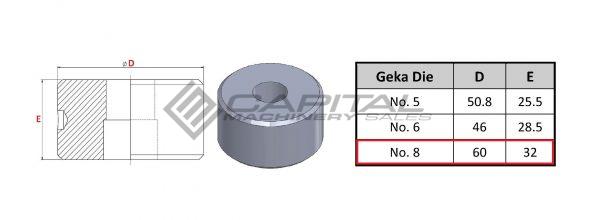 No. 8 Round Die For Geka Iron Worker 2