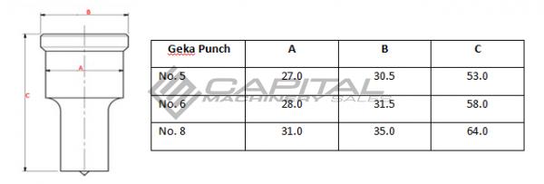 No. 8 Round Punch For Geka Iron Worker