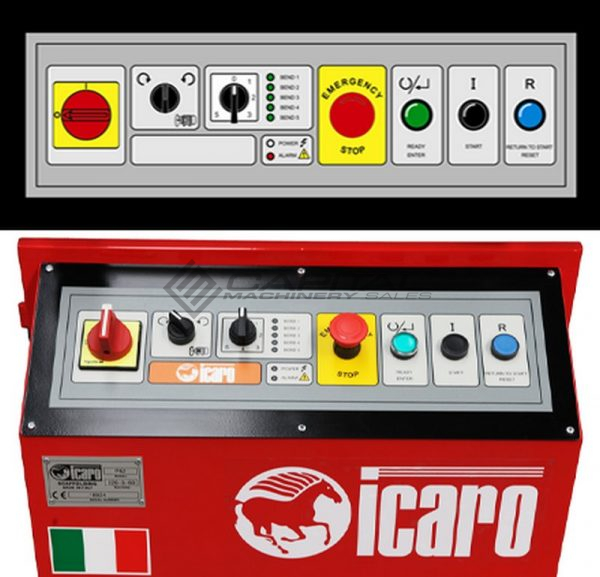 icaro cp5054 combined rebar cutter and bender 5
