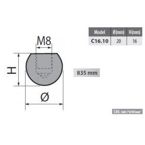 c16 10 rolleri radius top tool 10mm radius