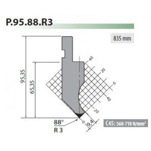 p95 88 r3 rolleri gooseneck top tool 3mm radius