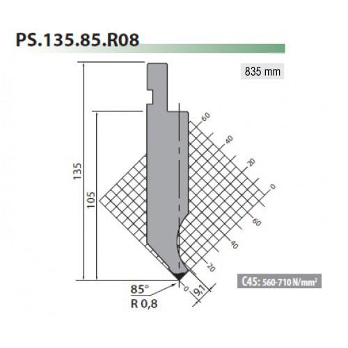 ps135 85 r08 rolleri gooseneck top tool