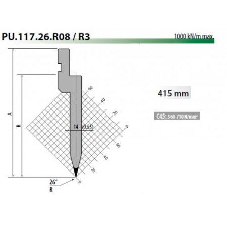 pu117 26 r08 rolleri top tool 26 degree