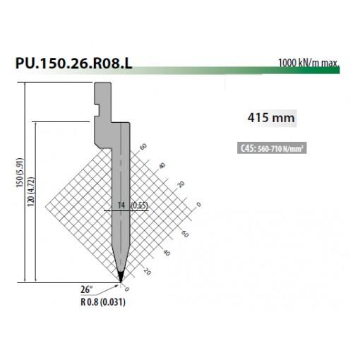 pu150 26 r08 rolleri top tool 26 degree