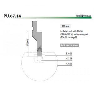 pu67 14 rolleri radius tool holder 67mm