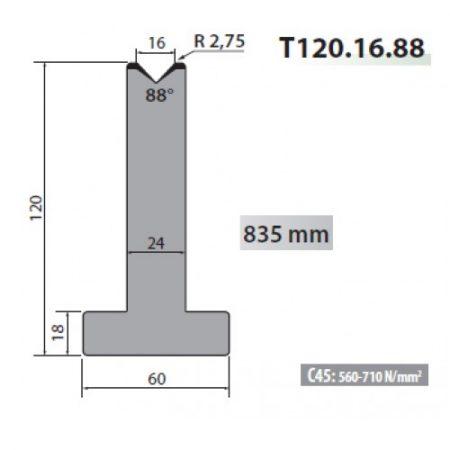 t120 16 88 rolleri single vee die 16mm vee 88 degree 120mm h