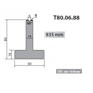 t80 06 88 rolleri single vee die 6mm vee 88 degree 80mm h