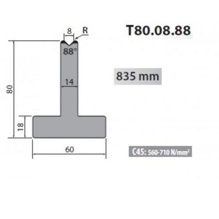 T80 10 88 Rolleri Single Vee Die 10mm Vee 88 Degree 80mm H 2