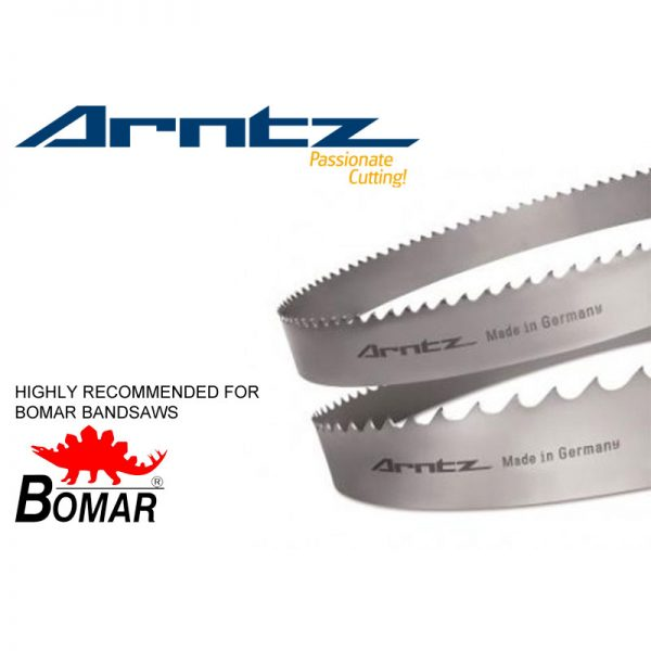 bandsaw blade for bomar model ergonomic 290.250 gac length 2910mm x width 27mm x 0.9mm x tpi