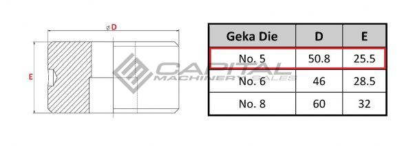 No. 5 Elongated Die For Geka Iron Worker 2