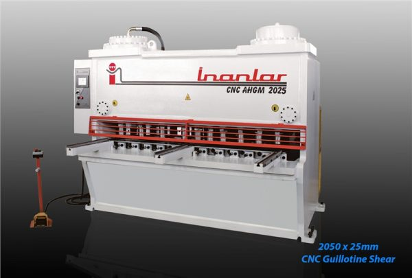 inanlar 2050 x 25mm cnc hydraulic guillotine shear
