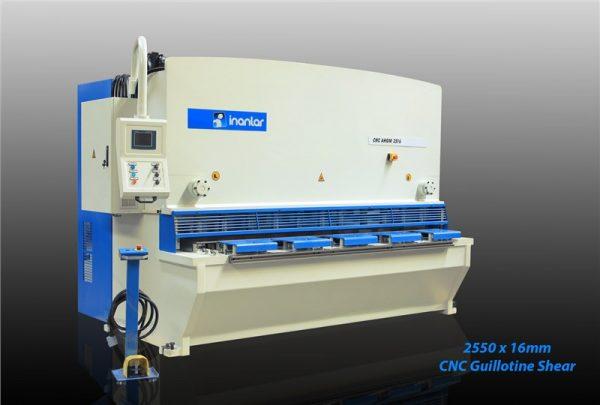 inanlar 2500 x 16mm cnc hydraulic guillotine shear