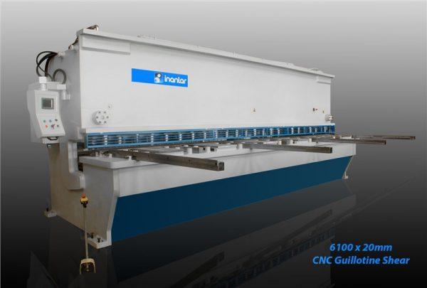 inanlar 6100 x 20mm cnc hydraulic guillotine shear