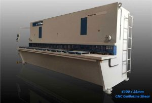 inanlar 6100 x 25mm cnc hydraulic guillotine shear