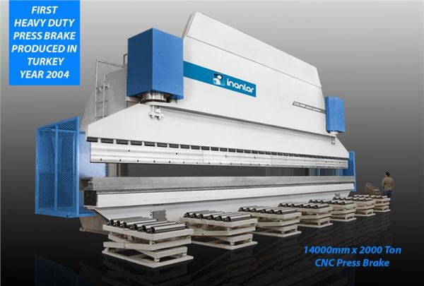 inanlar cnc hap 14000 x 2000 ton press brake backgauge