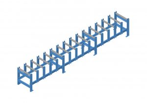 heavy duty gravity conveyor fork loading