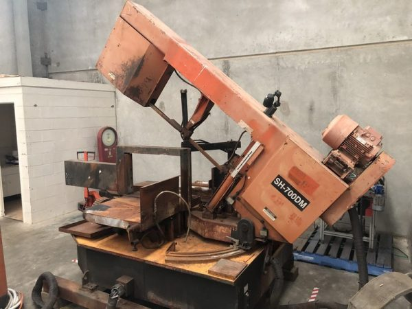 Used COSEN SH-700DM Semi Automatic Double Mitre Bandsaw