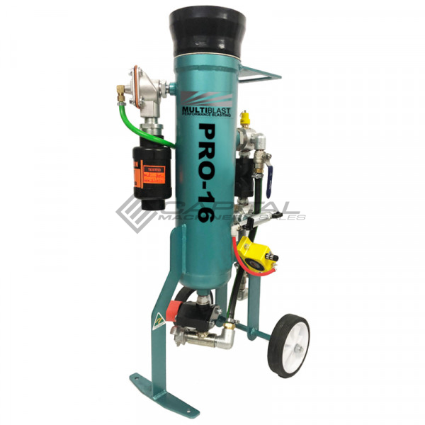 Multiblast Pro16 7 Litre Sandblasting Pot Machine Full Package With Soda Blasting Kit 001