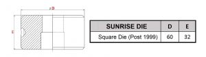 Sunrise square die post 1999