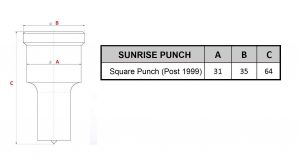 Sunrise square punch post 1999
