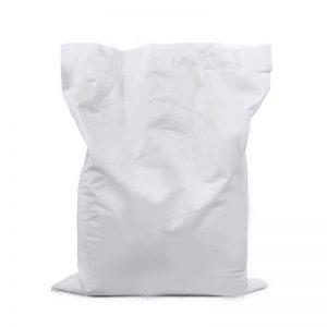 White Plastic Sack Bag 25 Soda Bump