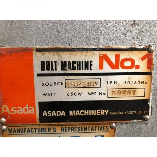 Used Asada Bar And Bolt Threading Machine 006
