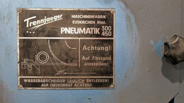 Used Trennjaeger High Speed Circular Metal Saw Ts01 007