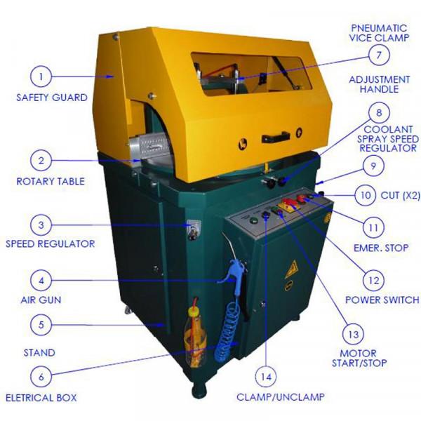 Brobo Tnf600 Up Cut Saw Main Component For Aluminium Saw