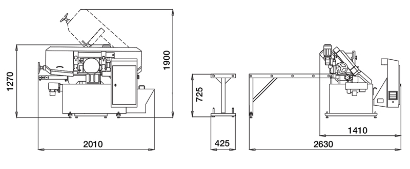 Brobo Pab280plc Fully Automatic Plc Bandsaw Diagram