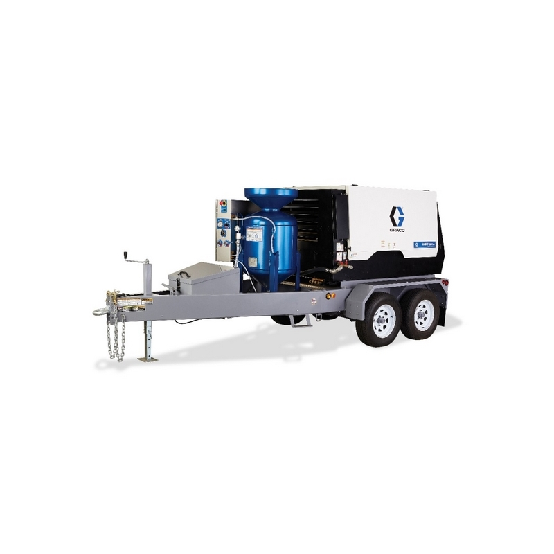 Graco Ecoquip 2 Eq200t Wet Abrasive Blasting Equipment Trailer W Compressor