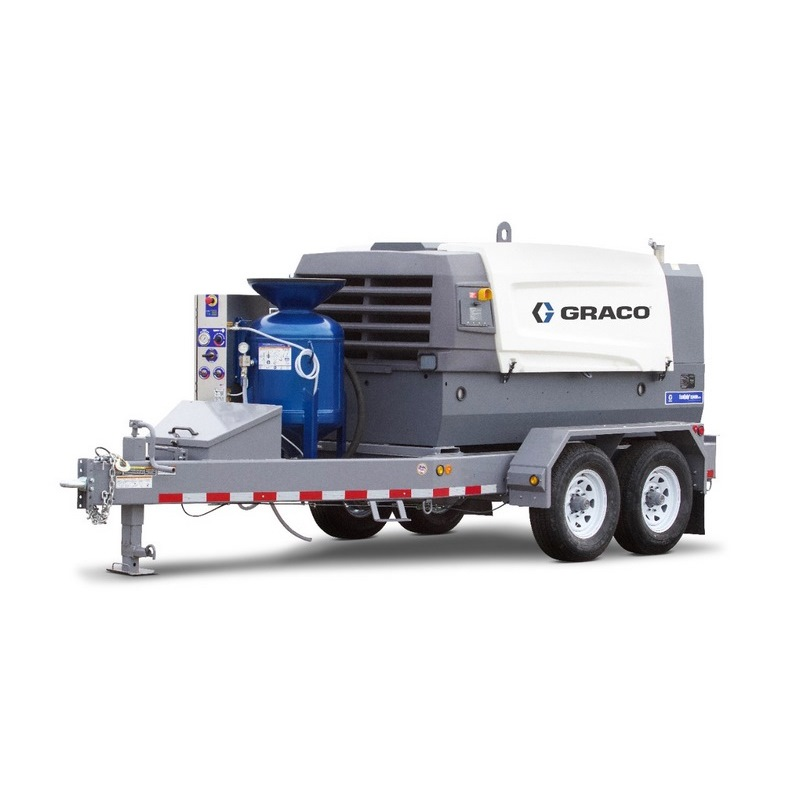 Graco Ecoquip 2 Eq400t Web Abrasive Blasting Equipment Trailer W Compressor