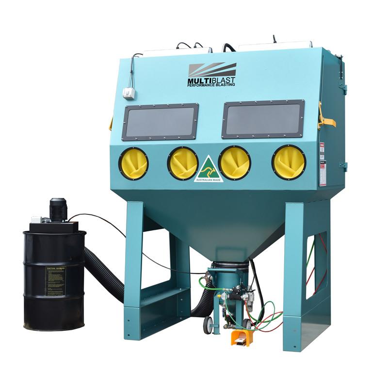 Multiblast Pro1800 Pressure Sandblasting Cabinet Drum Type Dust Collector
